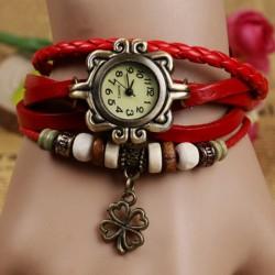 Relógio Feminino trevo de quatro folhas