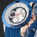 Reloj de pulsera Curren 8143 de los hombres del deporte del cuarzo
