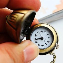 Reloj de bolsillo pequeño analógico casquillo