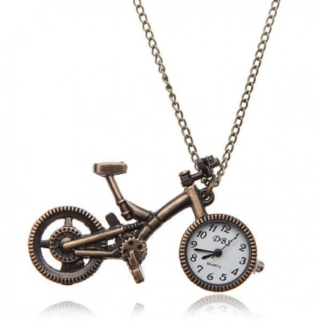 Bike pocket watch analog bronze alloy