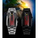 Reloj SKMEI 1013 pulsera de acero inoxidable digital de cuarzo resistente al agua