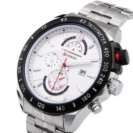 Relógio Curren 8148 de aço inoxidável de quartzo