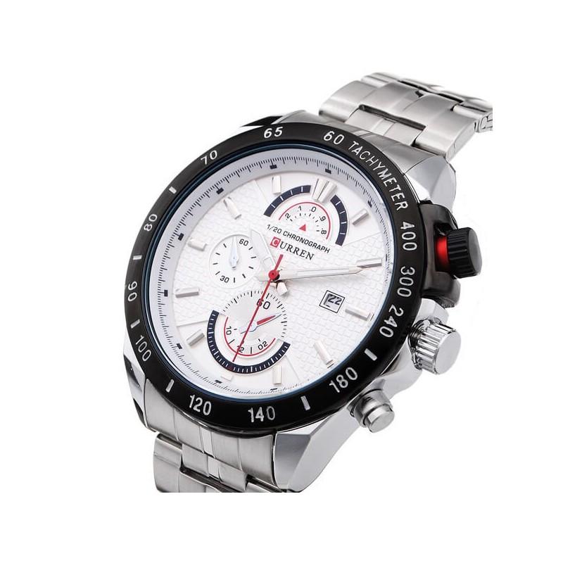 e736bc980ea Relógio Curren 8148 de aço inoxidável de quartzo - SHOP 40 GRAUS