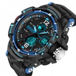 Reloj Sanda 289 Deporte dual Pantalla LED resistente al agua 30M