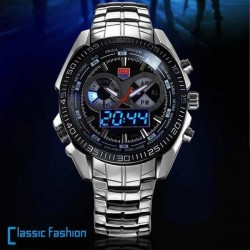 Watch TVG 468 Male 3 Dial Display analog-digital LED