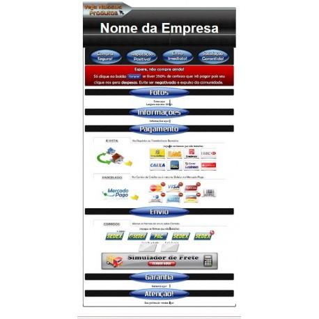 Template Mercado Livre Modelo Azul 01