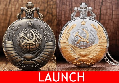 Retro quartz pocket watch model soviet