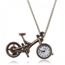 Relógio de bolso bicicleta liga de bronze analógico