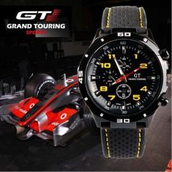 Gt 54 grand touring silicona banda analógico deportivo reloj de cuarzo